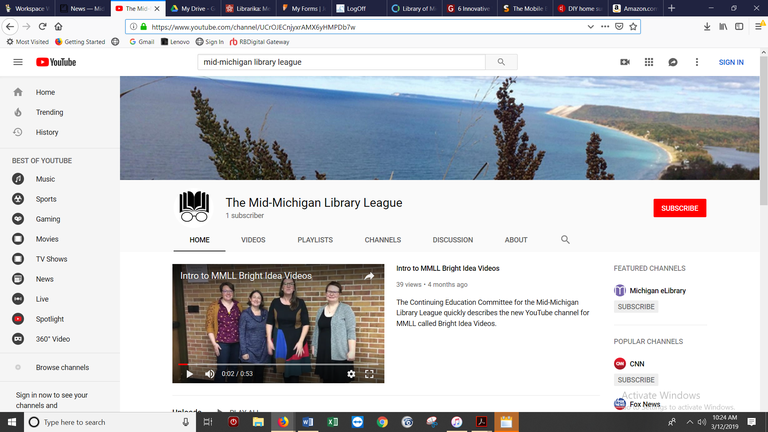 MMLL YouTube Channel — Mid-Michigan Library League