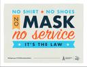 no mask no service